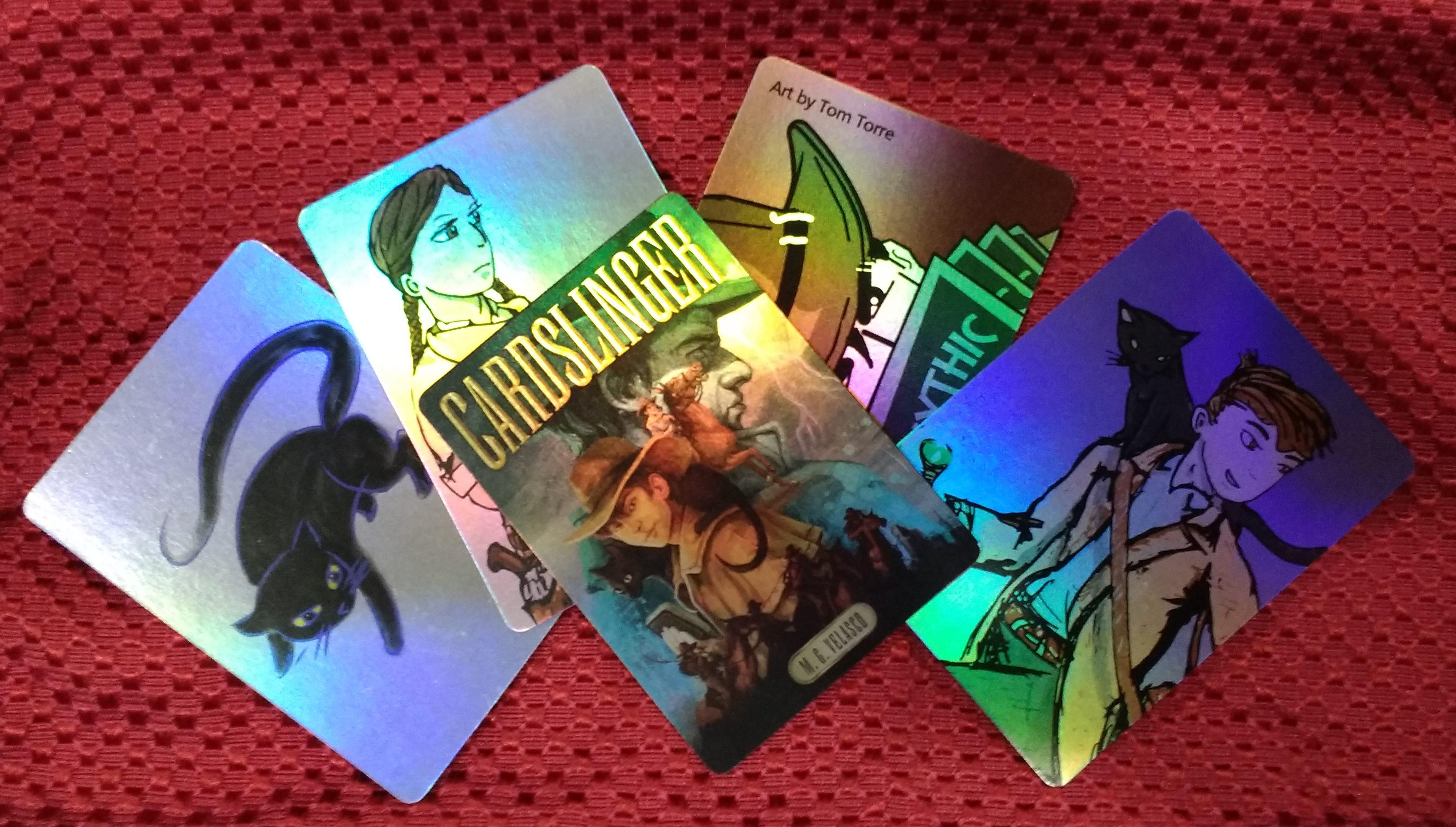 Holo-foil CARDSLINGER promo trading cards